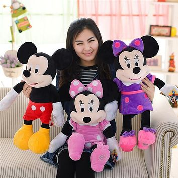 1pcs New Minnie Mouse Toys 65cm Minnie Pelucia Pink Plush Stuffed Animals Mickey Doll Girlfriend Kids Toys for Children Gifts