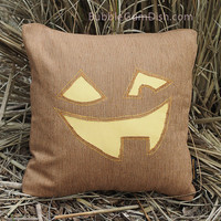 JACKIE Jack o Lantern Pumpkin Pillow Cover Cute Halloween Decor