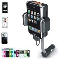 NEEWER Apple iPod iPhone Accessories. Wireless FM Transmitter with remote and Car Charger for Apple iPod Touch iPod Classic and APPLE iPhone 4. Full Range Frequency