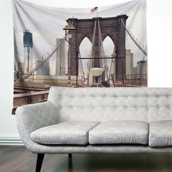 Brooklyn Bridge New York City Loft Urban Rustic City Boho Wanderlust Unique Dorm Home Decor Wall Art Tapestry