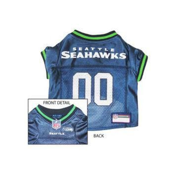DCCK8X2 Pets First Seattle Seahawks NFL Dog Jersey - Large