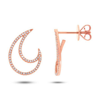 0.27ct 14k Rose Gold Diamond Earring