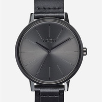 Nixon Kensington Leather Watch Black One Size For Men 26472710001