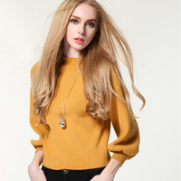 Fashion Turtleneck knit Bat shirt Sweater