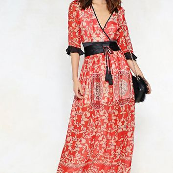 Feeling Baroque Maxi Dress