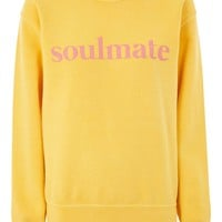 PETITE 'Soulmate' Slogan Sweat Top | Topshop