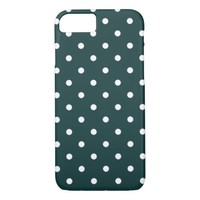 Azul Verde Polka Dots iPhone 8/7 Case