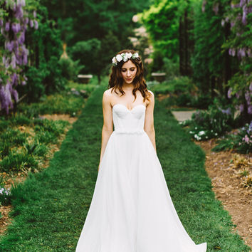 Don's Bridal 2016 Summer Bohemian Wedding Dresses Hot Sale Sweetheart Chiffon Beach Beidal Gowns