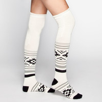 FULL TILT Ethnic Pattern Scrunch Top Womens Knee High Socks | Socks