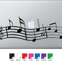 Music Notes Decal for Macbook, Air, Pro or Ipad