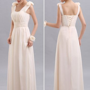 Beauty Emily Cheap Long Chiffon Blush Pink Bridesmaid Dresses 2018 A-Line Vestido De Festa De Casamen Formal Party Prom Dresses
