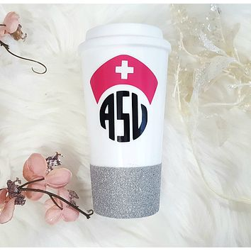 Nurse Monogram Travel Mug