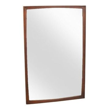 Pre-owned Large Mid-Century Danish Modern Walnut Wall Mirror