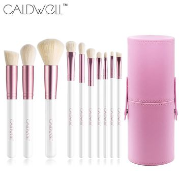 CALDWELL Professional Makeup Brushes Set 10pcs High Quality Synthetic Goat Hair Makeup Tools Kit With Tube Brushes