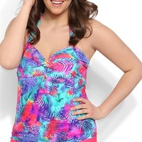 Plus Size Solid Swim Short