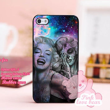 Marilyn Monroe Day Of The Dead in galaxy Design for iPhone 4, iPhone 4s, iPhone 5, Samsung Galaxy S3, Samsung Galaxy S4 Case