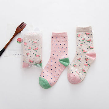 Watermelon Socks - 2 Pair