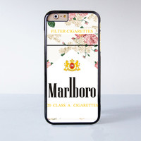 Marlboro Flower  Plastic Case Cover for Apple iPhone 6 6 Plus 4 4s 5 5s 5c