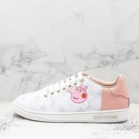 Louis Vuitton X Peppapig Lv Pink White Sneakers - Best Deal Online