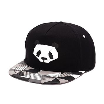 Lovers Baseball Cap Hip-hop Dad Bones Drake Hat Male Ms. Cute Panda Hiphop snap back Zebra Rubber Hat Snapback Flat-brimmed Hat