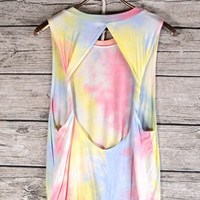 Tie Dye Cut Out Muscle Tee | Bloody-Fabulous