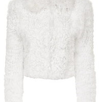 **Maida Chubby Shearling Jacket by Unique - Cream