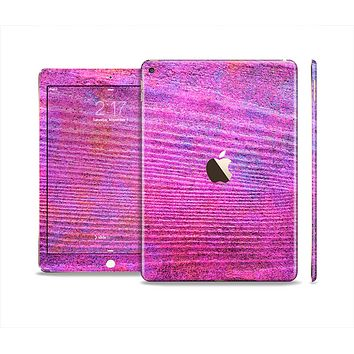 The Neon Pink Dyed Wood Grain Skin Set for the Apple iPad Air 2