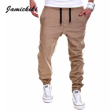 Jamickiki Brand Pants Men 2016 New Fashion Casual Sweatpants Homme Drop Crotch Sportswear Trousers High Quality Asian Size  K10