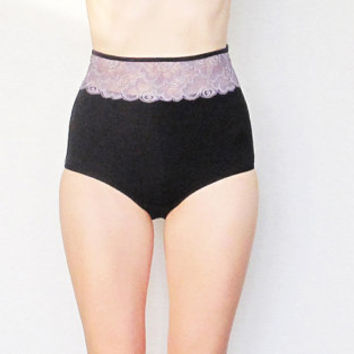 Very comfortable and warm High waisted panties by Egretta Garzetta underwear