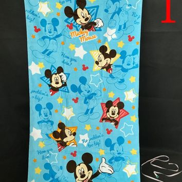 Disney Mickey Mouse Minnie Mouse water absorbing bath towel beach towel cartoon cotton children baby soft blanket throw