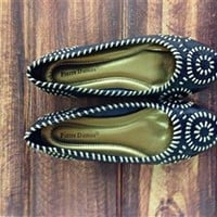 Navy Multi Gloria Flats