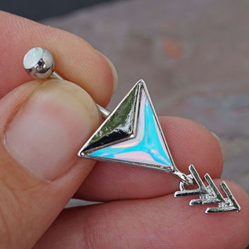 Chevron Arrow Belly Button Ring