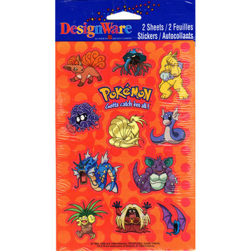 DesignWare Pokemon Stickers 2 Sheets 24 Stickers per Pack