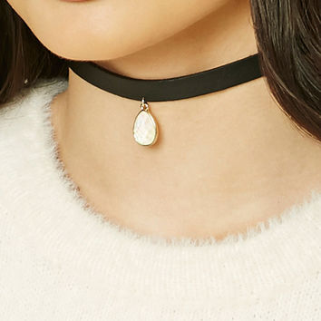 Faux Leather Iridescent Choker