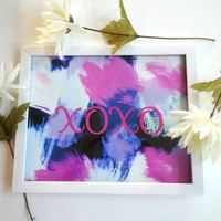 XOXO Typography 8.5 x 11 inch art print for baby nursery, dorm room, or home decor