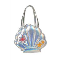 Pastel Goth Kawaii Pearl Shell seashell Purse - holographic Mini seaShell bag