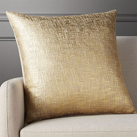 "23"" glitterati gold pillow with feather-down insert"