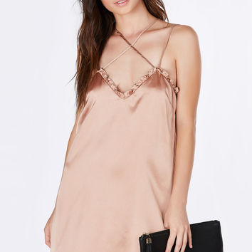 Ruffled Up Silky Slip Dress