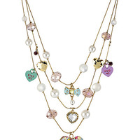 BetseyJohnson.com - CANDY HEART NECKLACE PINK