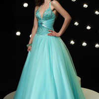 Halter V Neck Ball Gown Home Coming Dress HB121A