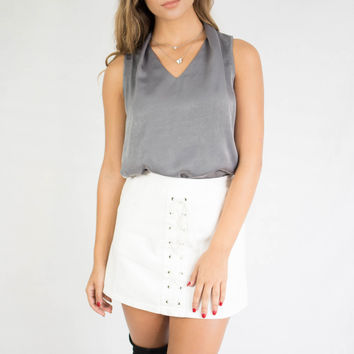 Gray State of Mind Sleeveless Top