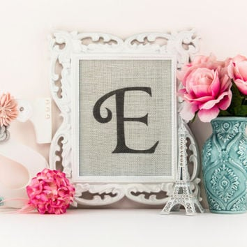 Nursery monogram, nursery decor girl, burlap nursery sign, elegant nursery decor
