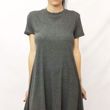 """Gray Matter"" Ribbed Dress"