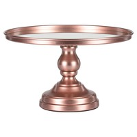 12 Inch Mirror-Top Cake Stand (Rose Gold)