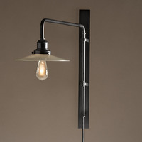 Circa 1900 Train Station Swing-Arm Sconce - Bronze