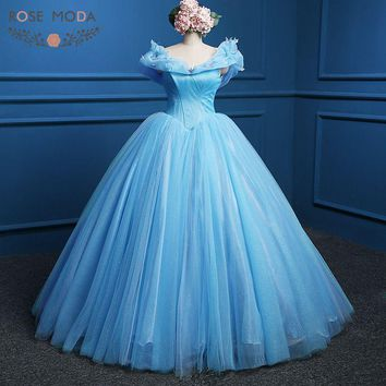 Blue Cinderella Costume Made Ball Gown