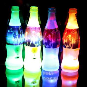 10PCS/LOT 2015 Beer Bottle Design LED Flashing Whistle World Cup Cheer Items Bar Hopping New Rave Toys