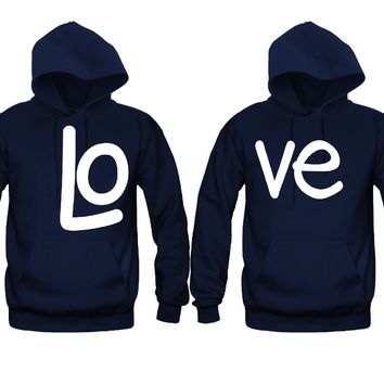 LO VE Awesome Gift Unisex Couple Matching Hoodies