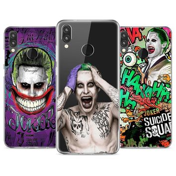 Soft Silicone Phone Case Suicide Squad Joker Harley Quin TPU Silicone Phone Case for Huawei P20 P20Lite P10 P8 P9 Lite 2017 P Sm