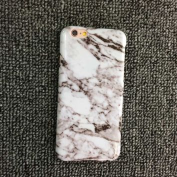 White Marble Pattern iPhone 5s 6 6s Plus Case Cover